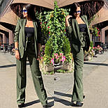 Женский брючный костюм с брюками клеш с завышенной талией и пиджаком vN3277, фото 6