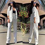 Женский брючный костюм с брюками клеш с завышенной талией и пиджаком vN3277, фото 7