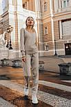 Женский повседневный вязаный костюм с V-вырезом vN3283, фото 2