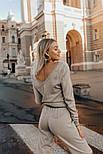 Женский повседневный вязаный костюм с V-вырезом vN3283, фото 3