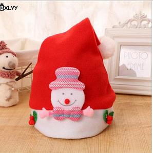 Новорічна шапочка BXLYY дитяча 48 см/сніговик рожевий