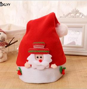 Новорічна шапочка BXLYY дитяча 48 см/дед_мороз