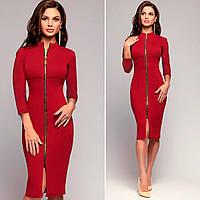Красное платье на молнии (Код MF-188)