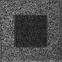 Решітка чорно-срібна 11 * 11 (фарбована), фото 1