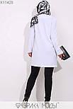 (от 48 до 54 размера) Женский брючный костюм в больших размерах с удлиненным кардиганом vN3306, фото 5