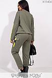 (от 48 до 56 размера) Женский спортивный костюм в больших размерах с накладными карманами vN3308, фото 3