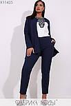 (от 48 до 54 размера) Брючный женский костюм в больших размерах офисный с пиджаком vN3309, фото 2