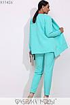(от 48 до 54 размера) Брючный женский костюм в больших размерах офисный с пиджаком vN3309, фото 5