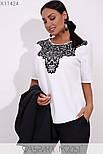 (от 48 до 54 размера) Брючный женский костюм в больших размерах офисный с пиджаком vN3309, фото 6