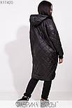 (от 48 до 62 размера) Женское демисезонное плащевое пальто в больших размерах на молнии vN3311, фото 5