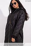 (от 48 до 62 размера) Женское демисезонное плащевое пальто в больших размерах на молнии vN3311, фото 6
