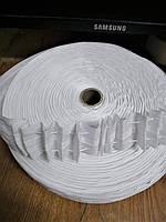 Тесьма (лента) шторная х/б тонкая (гармошка), рулон