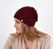 """Женская шапка """"Доминик"""" бордо"""