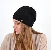 """Женская шапка """"Доминик"""" черный"""
