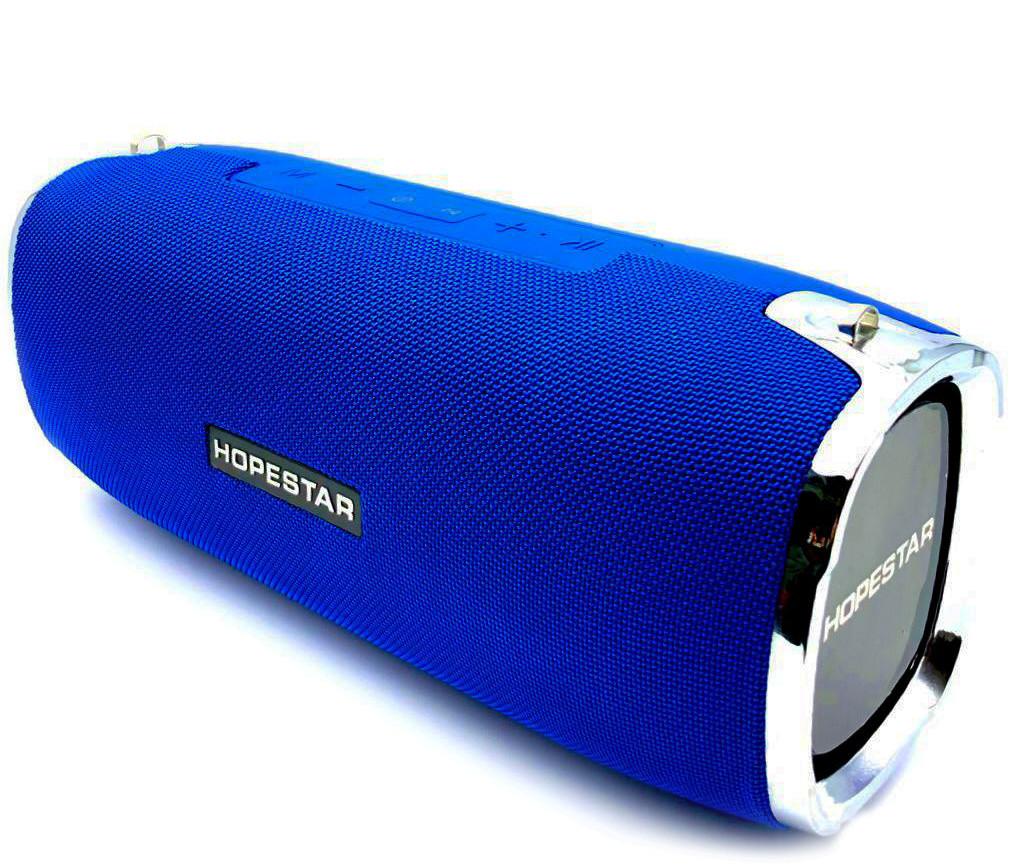 Портативная беспроводная стерео колонка Hopestar A6 c Bluetooth, USB и MicroSD Синяя