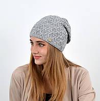 """Женская шапка """"Доминик"""" Серый, фото 1"""