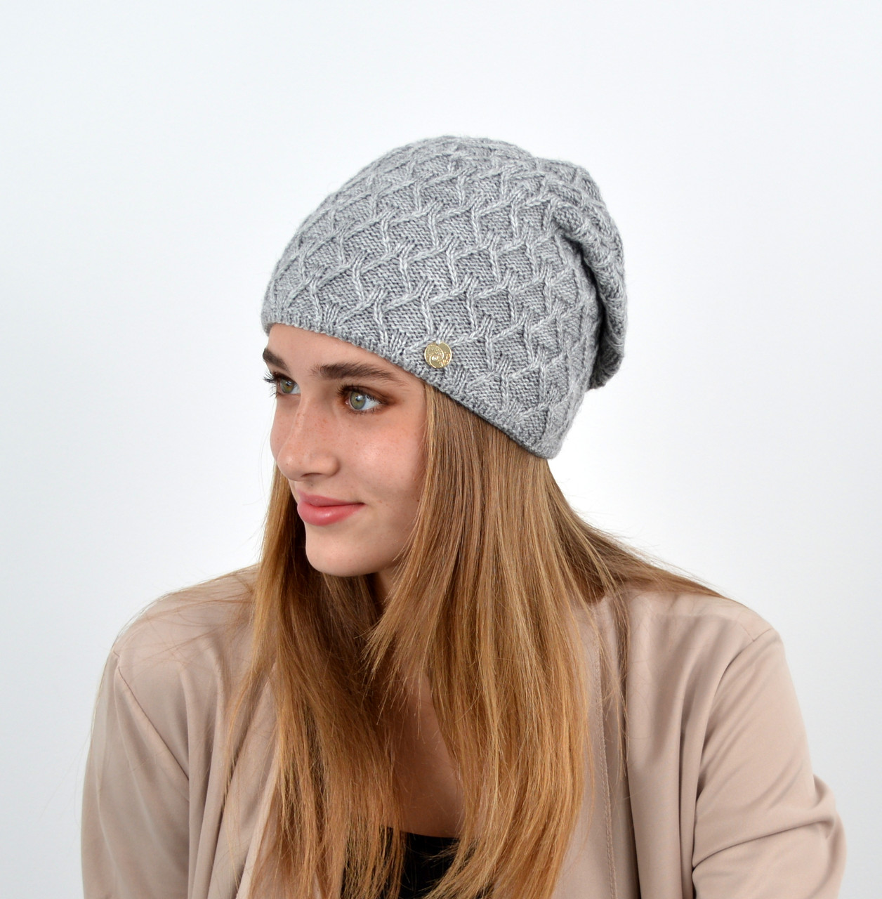 "Женская шапка ""Доминик"" Серый"