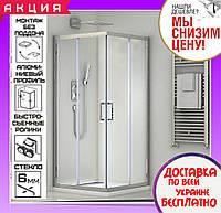 Душевая кабина 80х120 см прямоугольная Santeh 1902812 двери раздвижные