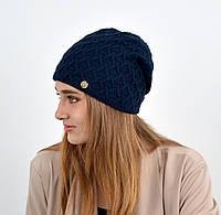 """Женская шапка """"Доминик"""" Синий, фото 1"""