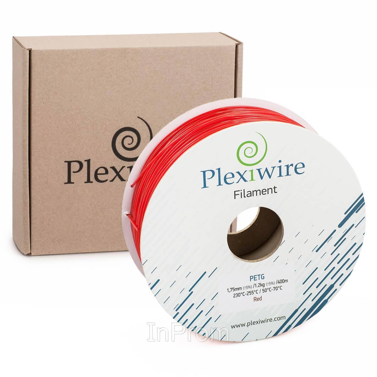 PETG пластик для 3D принтера красный 1,75мм (400м / 1,2кг)