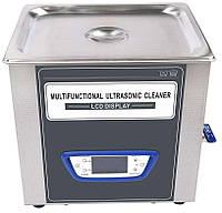 Ультразвуковая ванна Jeken TUC-100  (10Л, 240Вт, 40кГц, подогрев 60℃, таймер 1-99мин. регулировка мощности, спуск жидкости), фото 1
