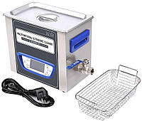 Ультразвуковая ванна Jeken TUC-32  (3.2Л, 240Вт, 40кГц, подогрев до 60°C, таймер 1-99мин., спуск жидкости), фото 1