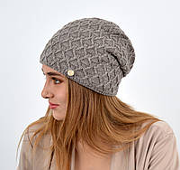 """Женская шапка """"Доминик"""" Капучино, фото 1"""