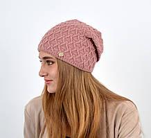 """Жіноча шапка """"Домінік"""" т. пудра"""