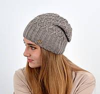 """Женская шапка """"Нэнси"""" капучино, фото 1"""