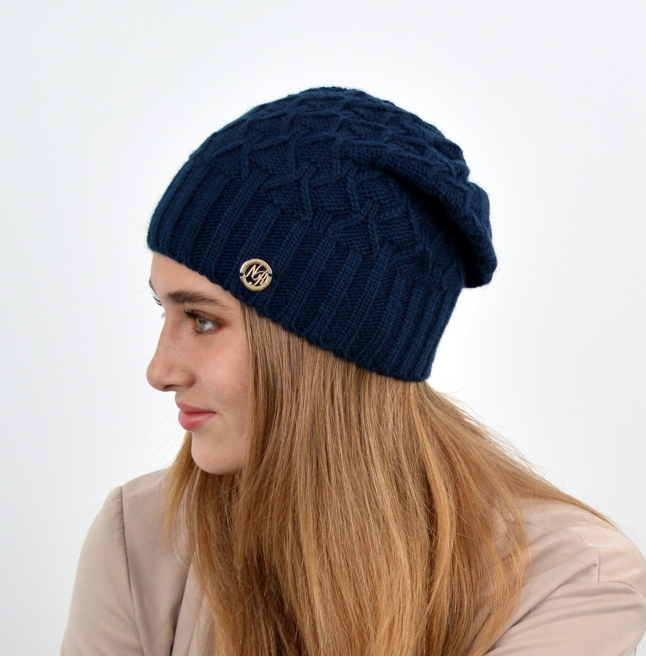 """Женская шапка """"Нэнси"""" синий"""