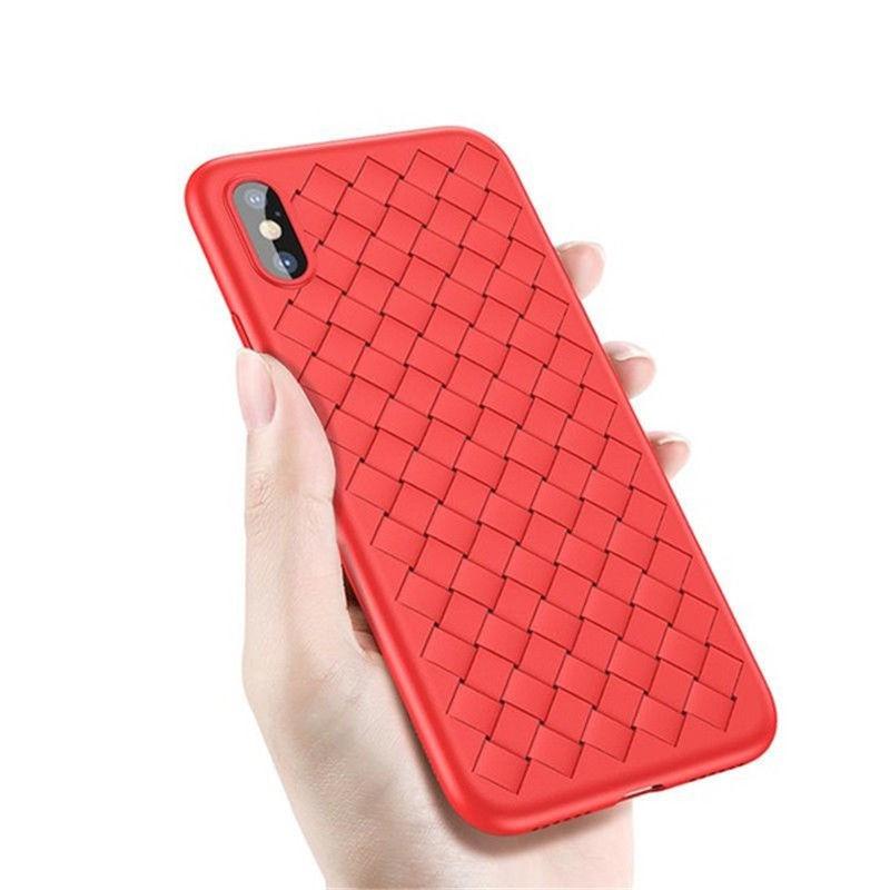 Чехол для iPhone X/XS Baseus Weaving Case Красный