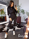 Женский костюм брючный с джоггерами и бомбером на молнии vN3350, фото 2