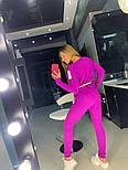 Вязаный женский костюм со свободной кофтой и зауженными штанами vN3356, фото 5