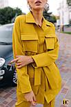 (от 42 до 50 размера) Женский брючный костюм с удлиненным жакетом и накладными карманами vN3358, фото 3