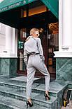 (от 42 до 50 размера) Женский комбинезон с молнией и длинным рукавом vN3359, фото 3