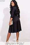(от 48 до 54 размера) Платье в больших размерах с расклешенной юбкой под пояс с верхом на запах vN3370, фото 6