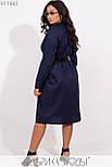 (от 48 до 54 размера) Платье - рубашка в больших размерах длиной миди с длинным рукавом vN3371, фото 4