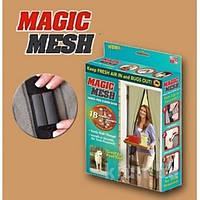 Занавеска москитная Magic Mesh  100см * 210см brown  коричневая
