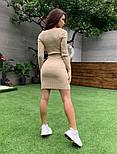 Вязаное облегающее платье выше колен с U - вырезом vN3405, фото 4