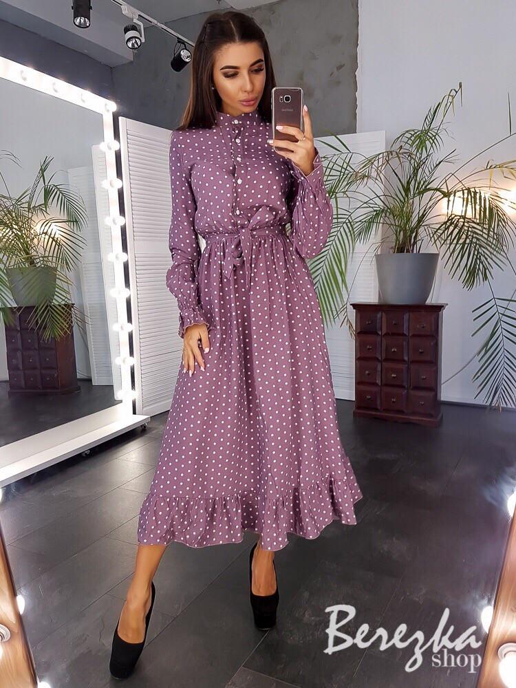 Платье с пышной юбкой миди и рубашечным верхом vN3410