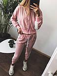 Женский спортивный костюм с укороченной мастеркой на молнии и зауженными штанами vN3411, фото 2