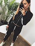 Женский спортивный костюм с укороченной мастеркой на молнии и зауженными штанами vN3411, фото 3