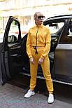Трикотажный женский спортивный костюм с укороченным худи и штанами на манжетах vN3414, фото 5