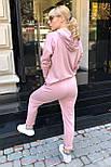 Трикотажный женский спортивный костюм с укороченным худи и штанами на манжетах vN3414, фото 6