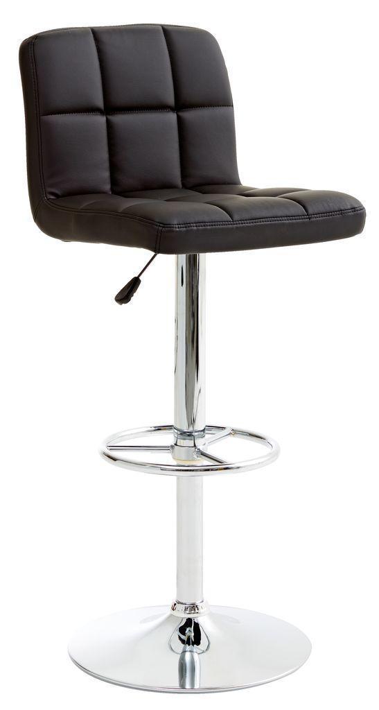 🏡Барный стул черный Искусственная кожа, хромированный металл   кухонный стул, стул дуб, стул современный, стул черный, стул 4 ножки, стул пластиковый,