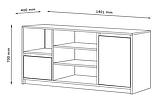 🏡Буфет с дверцами, отделка под бетон   буфет, буфет бетон, буфет серый, буфет 140 см, фото 2