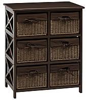 🏡Комод деревянный с 6-мя выдвижными ящиками, цвет (венге) коричневый | Комод -шкафчик 2-х дверный, Комод -шкафчик, Комод, комод, тумбы 2-х дверная,, фото 1