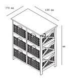 🏡Комод деревянный с 6-мя выдвижными ящиками, цвет белый   Комод -шкафчик 2-х дверный, Комод -шкафчик, Комод, комод, тумбы 2-х дверная, Комод с 4-мя, фото 2