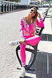 Женский вязаный костюм с лосинами и ажуром на кофте vN3428, фото 2