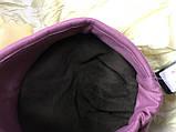 Шапочка двойная гладкий трикотаж цвет розовый, фото 4